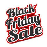 Venda de Black Friday no branco Fotos de Stock Royalty Free