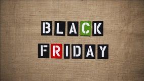 A venda de Black Friday para a animação 1 do movimento ilustração stock