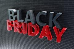 Venda de casa do ano Black Friday somente uma vez por ano, os últimos dias de novembro Discontos, vendas ilustração 3D ilustração royalty free