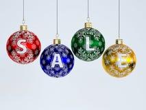 Venda de Chrismas. decorações da Natal-árvore Fotografia de Stock Royalty Free