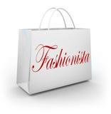 Venda de compra da loja da roupa do saco de compras do Fashionista Fotografia de Stock
