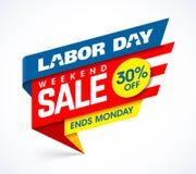 Venda de fim de semana do Dia do Trabalhador ilustração stock