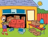 Venda de garagem Imagem de Stock