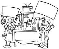 Venda de jarda - preto e branco ilustração do vetor
