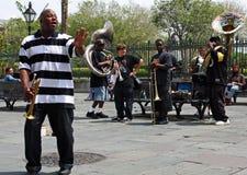 Venda de jazz de New Orleans Fotografía de archivo libre de regalías