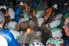 Venda del carnaval en Montevideo, Uruguay, 2008. foto de archivo libre de regalías