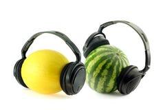 Venda del melón Imagenes de archivo