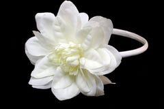 Venda del pelo con una flor blanca Fotografía de archivo libre de regalías