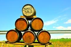 Venda direta do vinho em Italy fotos de stock