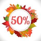 Venda Disconto cinqüênta por cento Foto de Stock Royalty Free