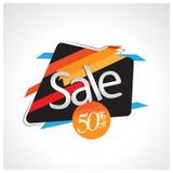 Venda do ícone e oferta especial 50% fora Ilustração do vetor Imagens de Stock