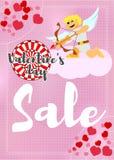Venda do cartaz para o dia dos amantes Imagem de Stock Royalty Free