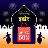 Venda do dia da república da Índia Imagem de Stock Royalty Free