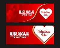 Venda do dia de Valentim Imagens de Stock Royalty Free