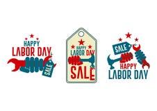 Venda do Dia do Trabalhador ilustração royalty free