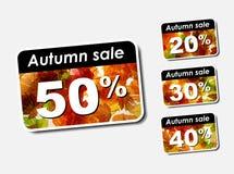 Venda do disconto do outono ilustração stock