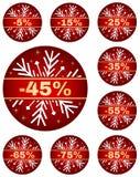 A venda do inverno etiqueta 2 ilustração stock