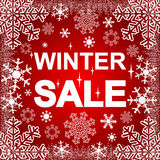 Venda do inverno no fundo vermelho Foto de Stock