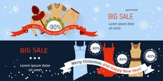 Venda do Natal da bandeira Fotografia de Stock