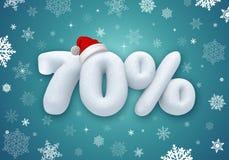 Venda do Natal, disconto da neve 3d Imagens de Stock