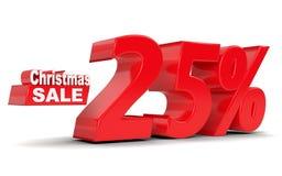 Venda do Natal Disconto 25 por cento fora Imagem de Stock Royalty Free
