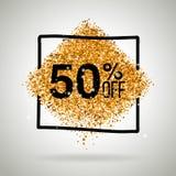 Venda do ouro cinqüênta por cento Foto de Stock