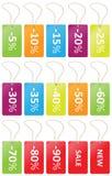 Venda do preço das etiquetas Imagens de Stock
