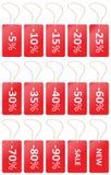 Venda do preço das etiquetas Foto de Stock Royalty Free