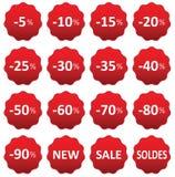 Venda do preço das etiquetas Imagens de Stock Royalty Free