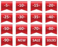 Venda do preço das etiquetas Imagem de Stock