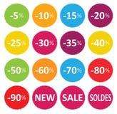 Venda do preço das etiquetas Fotos de Stock