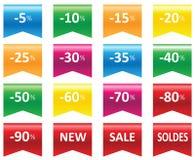 Venda do preço das etiquetas Imagem de Stock Royalty Free