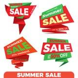 Venda do verão Etiqueta do molde do crachá da bandeira do preço da etiqueta da venda Imagem de Stock Royalty Free