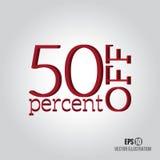 Venda do vermelho 50% Foto de Stock Royalty Free