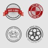 Venda e arrendamento das bicicletas para o curso Fotografia de Stock