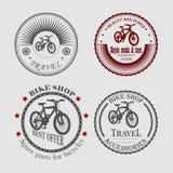Venda e arrendamento das bicicletas para o curso Foto de Stock
