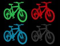 Venda e arrendamento das bicicletas para o curso Fotos de Stock Royalty Free