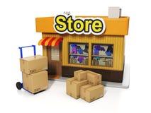 Venda e compra ilustração stock