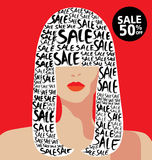 Venda e forma e compra Imagem de Stock