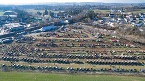 Venda em Lancaster, PA EUA 2 da lama de Amish pelo zangão foto de stock
