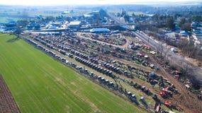 Venda em Lancaster, PA EUA da lama de Amish pelo zangão imagens de stock