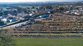 Venda em Lancaster, PA EUA 3 da lama de Amish pelo zangão imagens de stock royalty free