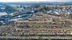 Venda em Lancaster, PA EUA 4 da lama de Amish pelo zangão imagem de stock royalty free