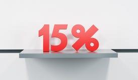 Venda em 15 por cento Imagens de Stock Royalty Free