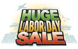 Venda enorme do Dia do Trabalhador Foto de Stock