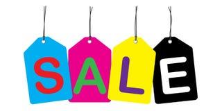 A venda etiqueta o fundo & a ilustração do vetor Imagens de Stock
