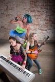 Venda femenina del punk rock Foto de archivo