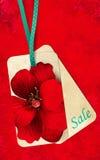 Venda floral da etiqueta fotografia de stock