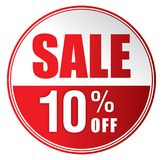 Venda 10% fora Foto de Stock Royalty Free