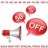 Venda fora o ícone Imagens de Stock Royalty Free